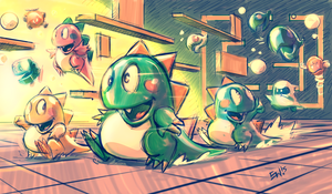 Bubble Bobble - Fan Art by EryckWebbGraphics