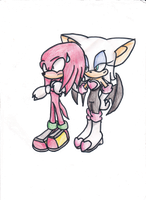 Knuxouge Colored by sonicfan295