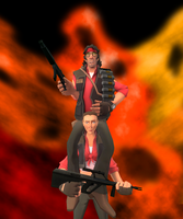 Hot Shots! Part Deux (TF2 Style) by LoudNoises