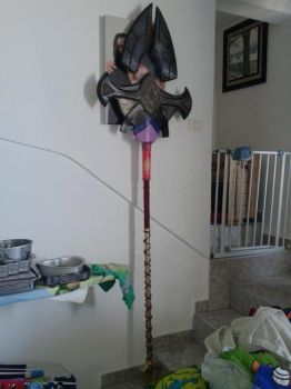Azir Staff WIP cosplay by NereaGOTHIC