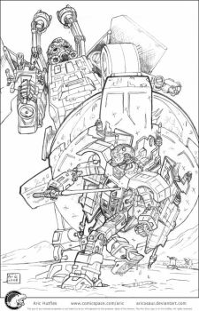 SW_TF AT-AT vs Luke - Pencils by Aricosaur