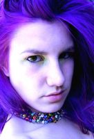 UV Purple Hair by littlehippy