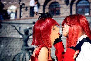 Red and Grell   Deep inside by UniWitch