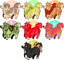 Point Pup Adopts! ALL GONE by Kiboku