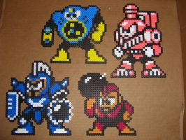 Megaman bead bosses 5 by zaghrenaut