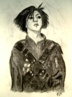hisashi in charcoal by Ahlana