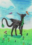 Furun and the butterflies by Okiro13