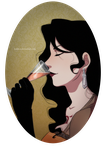 Lust and her champagne by Koklico