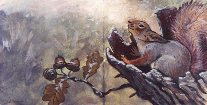 Holiday Card Project: Squirrel by Camelid