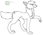 MSPaint Friendly Female Wolf Lineart Reupload by Birritan