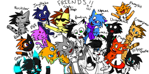 All My Awesome Friends by Rad1um5