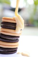The tower of oreo with rainy milk by choisiwona