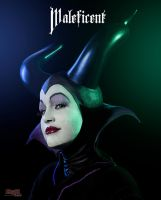 Maleficent Cosplay in the dark 1 by bgzstudios