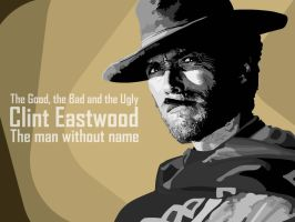 Clint Eastwood - The man without name by kaosintesta