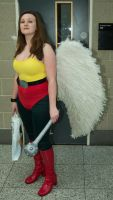 London Super Comicon 187 - hawkgirl by cosmicnut