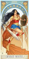 Wonder Woman Nouveau (w/video process) by clayscence