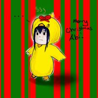 Kanda in a duck suit by Afireonthesnow