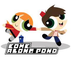Come Along Pond: Amy and Eleven Powerpuff Style by Lumos5000
