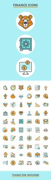 60 Finance Icons by ottoson