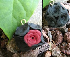 Polymer clay roses by Daily-Prophet