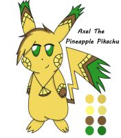 Axel The Pineapple Pikachu Ref~ ^^ by AlyssaThePikachu