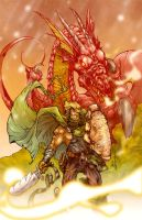 Dragon and Warrior by acosorio