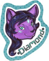 Diamond Badge (stream commission) by dragonmelde