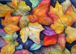 Autumn leaves by rougealizarine