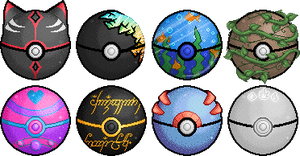 Custom Poke Balls by Heartage