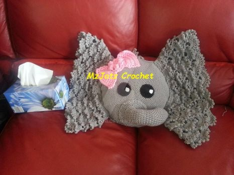 Elephant Baby Pillow by MzHunni