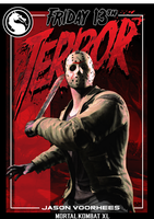 Mortal Kombat XL- Trading Cards #1 Jason Voorhees by MikazukiMAN