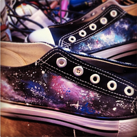 WIP - Galaxy Shoes by artsyfartsyness