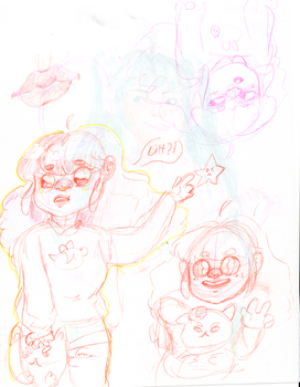 Bee and puppycat doodles by PondoTart