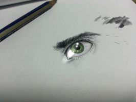 Green eye by Kodaris