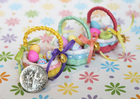 Miniature Easter Baskets by WaterGleam