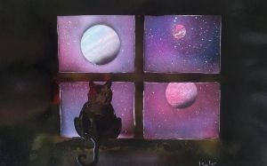 iriecat sees the stars by JessicaSoulier