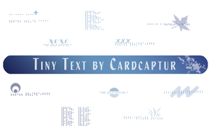 Tiny Text Brushes - PS 7.0+ by cardcapturs