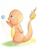 Charmander and a Bubble by Cattensu