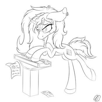 Study Blues Lines - Linework by TyandagaArt