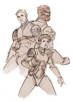 Jeager Pilots of Triple Threat by Mudora