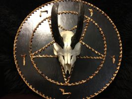 16 inch Baphomet Bone Plaque by SigilofSulfer