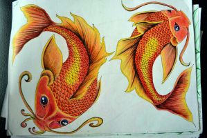 Koi fish - Full by Lou-Rhi