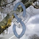 Stained Glass Celtic Heart by CeltCraft