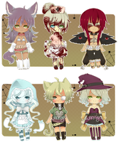 Halloween Adopts [CLOSED] by WanNyan