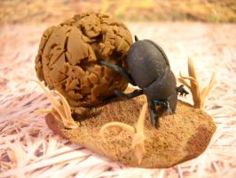 Happy Dung Beetle by Mindslave24-7