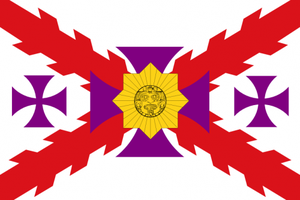 Flag of la Raza Cosmica by 3D4D