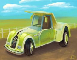 Green Classic style car by zgul-osr1113