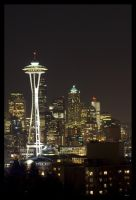 Seattle at night by e12dollarz