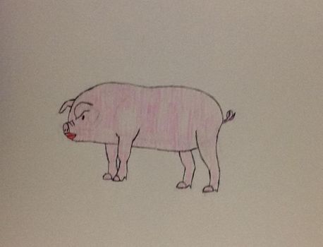 a pig with lipstick by GwenGotGame
