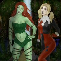 Poison Ivy and Harley Quinn by Kallisti-McGregor
